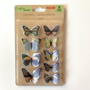 Crafters Square Pop Up Butterfly Stickers